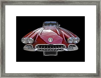 Chevrolet Corvette C1 1958 Head On Framed Print