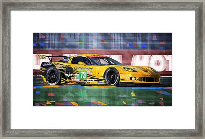 Chevrolet Corvette C6r Gte Pro Le Mans 24 2012 Framed Print
