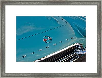 Chevrolet Corvette Hood Emblem 2 Framed Print by Jill Reger