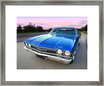 Chevrolet El Camino At Sunset Framed Print by Gill Billington