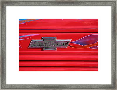 Chevrolet Emblem Framed Print by Carol Leigh