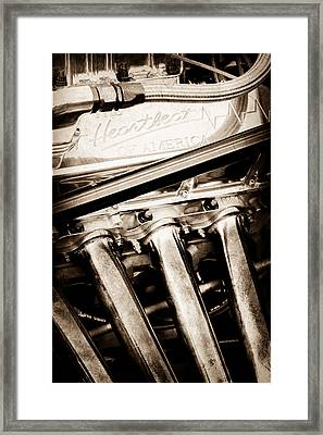 Chevrolet Engine - Heartbeat Of America Framed Print by Jill Reger