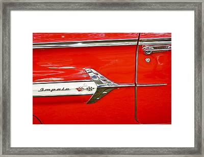 Chevrolet Impala Classic In Red Framed Print