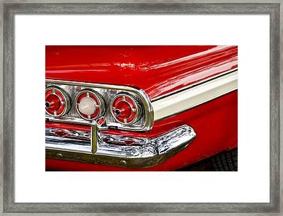 Chevrolet Impala Classic Rear View Framed Print