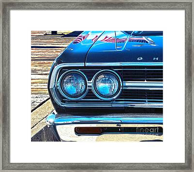 Chevrolet In American Town Framed Print