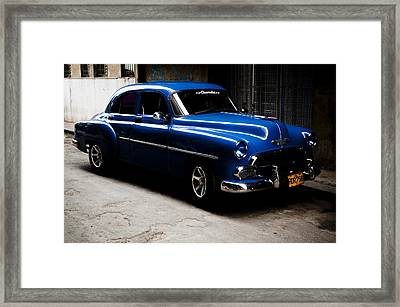 Chevrolet In Havana Framed Print by Dan  Grover