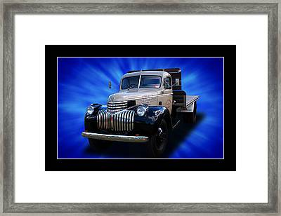 Framed Print featuring the photograph Chevrolet Maple Leaf Truck by Keith Hawley