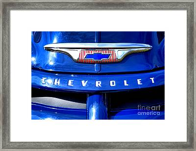 Chevrolet Pickup Hood Ornament Framed Print by Olivier Le Queinec