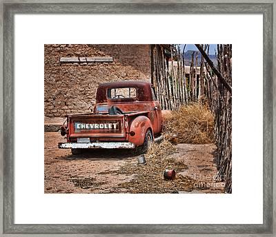 Chevrolet Pickup Framed Print by Nikolyn McDonald