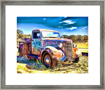 Chevrolet Pickup Truck Framed Print