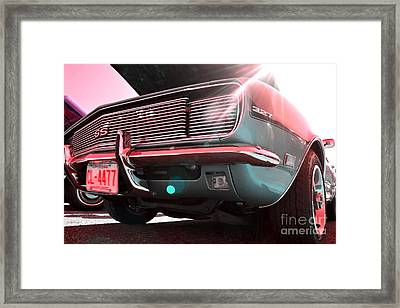 Chevrolet Red Green  Framed Print by LLaura Burge