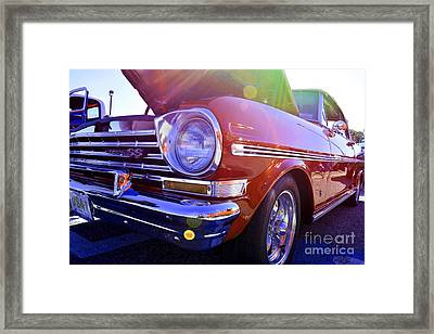 Chevrolet Red Framed Print by LLaura Burge