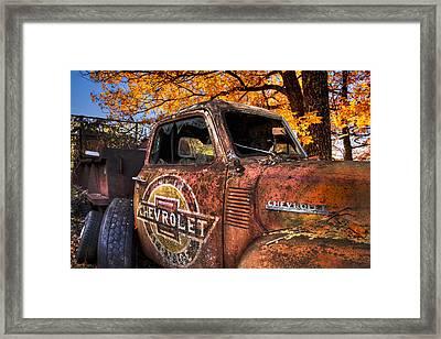 Chevrolet Usa Framed Print by Debra and Dave Vanderlaan