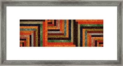 Chevron Brocade Triptych Framed Print by Michelle Calkins