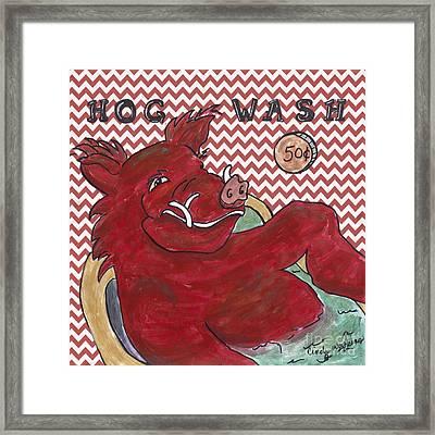 Chevron Hog Wash Framed Print by Cindy Watkins