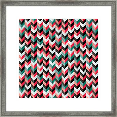 Chevron Framed Print by Mike Taylor