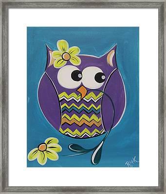 Chevron Owl Framed Print