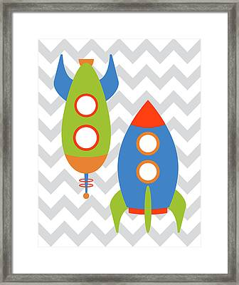 Chevron Rocket Iv Framed Print by Tamara Robinson