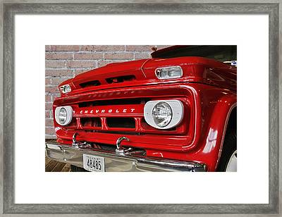 Chevy Beaumont Fire Museum Tx Framed Print by Christine Till