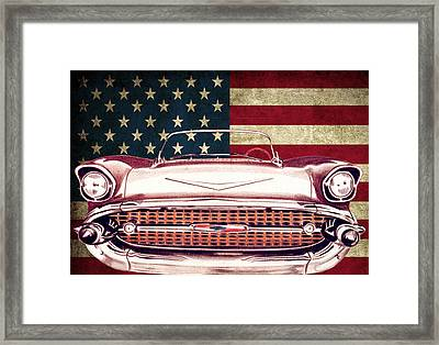 Chevy Bel Air 57 Framed Print by Diego Abelenda