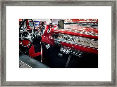Chevy Bel Air Dash Framed Print by David Morefield