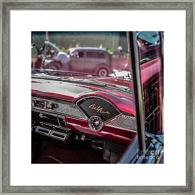 Chevy Bel Air Dash Framed Print by Edward Fielding
