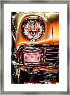 Chevy Bel Air Headlight Framed Print by Shanna Gillette
