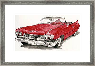 Framed Print featuring the painting  'caddy'-59 by Eva Ason