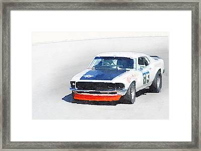 Chevy Camaro Monterey Watercolor Framed Print