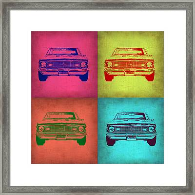 Chevy Camaro Pop Art 1 Framed Print by Naxart Studio