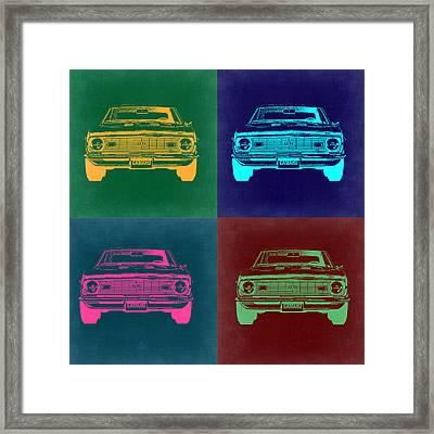 Chevy Camaro Pop Art 2 Framed Print by Naxart Studio