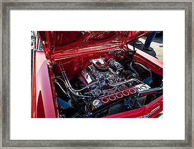 Chevy Chrome Framed Print by John Crowe