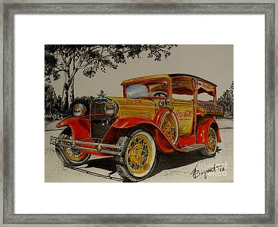 Chevy Coca Cola Truck Framed Print by Jackie Bryant