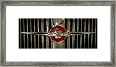 Chevy Emblem Framed Print by Paul Freidlund