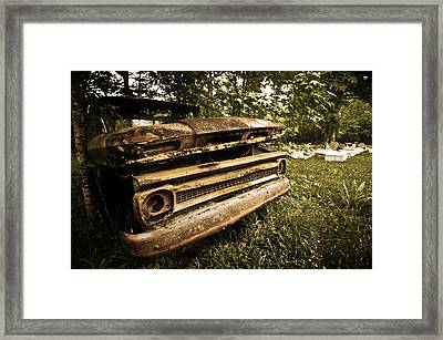Chevy Graveyard Framed Print by Andy Crawford