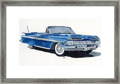 Chevy Impala Framed Print by Eva Ason
