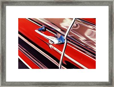 Framed Print featuring the photograph Chevy Or Caddie? by Ira Shander