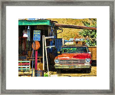 Chevy Parking Only Framed Print