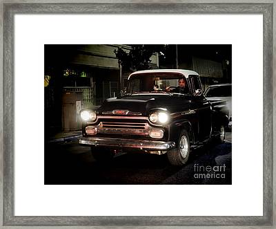 Chevy Pickup Truck Framed Print by Nina Prommer