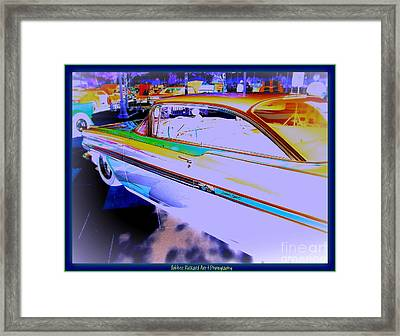 Chevy Psycho Delic Framed Print by Bobbee Rickard