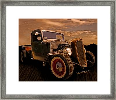 Chevy Rat Rod Pickup 1936 Framed Print