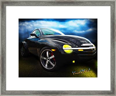 Chevy Ssr Night Life Hot Rods Live Lives All Their Own Framed Print