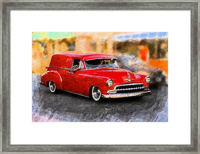 Framed Print featuring the photograph Chevy Street Rod by Aaron Berg