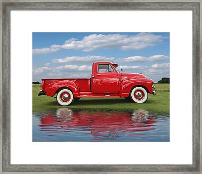 Chevy Truck By The Lake Framed Print
