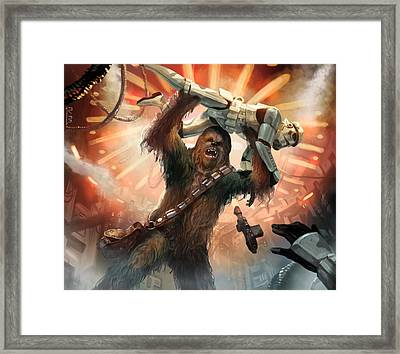 Chewbacca - Star Wars The Card Game Framed Print