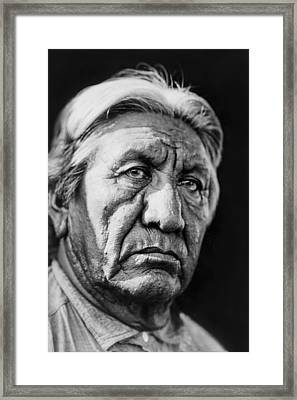 Cheyenne Indian Man Circa 1927 Framed Print by Aged Pixel