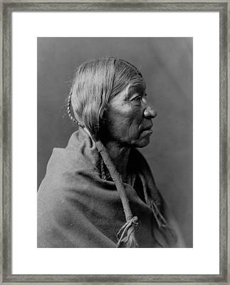 Cheyenne Indian Woman Circa 1910 Framed Print by Aged Pixel