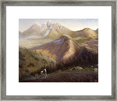Cheyenne Valley Wyoming Framed Print by Gregory Perillo