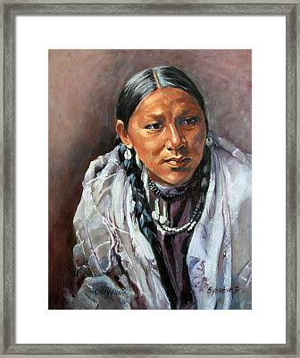Cheyenne Woman Framed Print