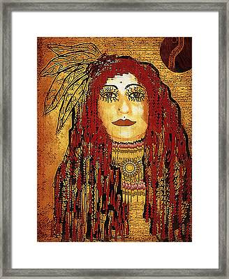 Cheyenne Woman Warrior Framed Print by Pepita Selles